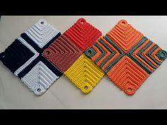 👊# Descanso de Panela /Travessa /Sousplat p/ xícaras - YouTube Crochet Motif Patterns, Crochet Bikini Pattern, Granny Square Crochet Pattern, Crochet Stitches, Swimsuit Pattern, Macrame Wall Hanging Patterns, Crochet Sunflower, Crochet Triangle, Crochet Mandala