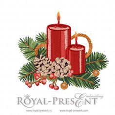 Machine Embroidery Design - Vintage Christmas decoration