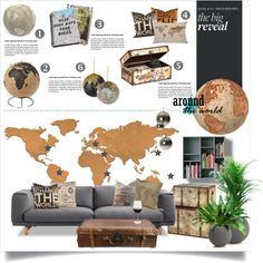 """Around the World"" by nyrvelli on Polyvore - future objects you might need for your room"