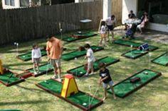 Portable Miniature Golf Rental Houston Parties