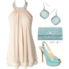 Light Teal Night Out, created by styleofe on Polyvore