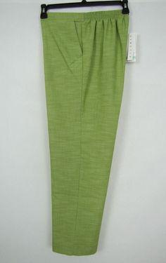Alfred Dunner Pants Women's Pull-On Al Fresco Stretch Pants Size 8 NEW #AlfredDunner #PullOn 14.99