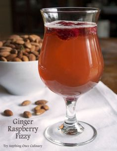 Ginger Raspberry Fizzy for #CocktailDay