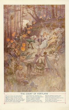 1919 Illustration found in The Book of Knowledge from an Ephemera Grab Bag on Fairies.
