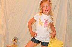 Childrens Clothingappliqued shirtEasterBunny by girliebowsgalore, $12.00