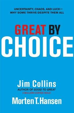 Great by Choice: Uncertainty, Chaos and Luck - Why Some Thrive Despite Them All by Jim Collins, http://www.amazon.co.uk/dp/1847940889/ref=cm_sw_r_pi_dp_B43fsb04HNQWH