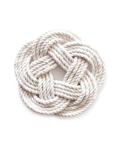 Rope coasters add to the nautical feel at our Fresh Fourth party.