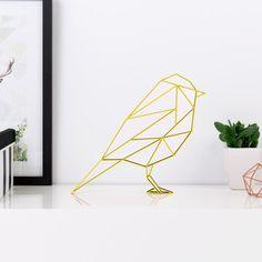 Origami Meise aus Holz in vielen verschiedenen Farben erhältlich.