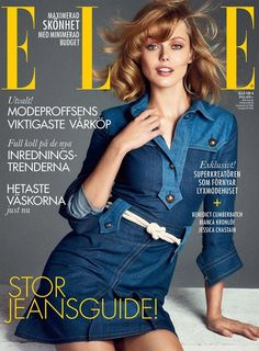 Frida Gustavsson in Elle Sweden April 2015 cover
