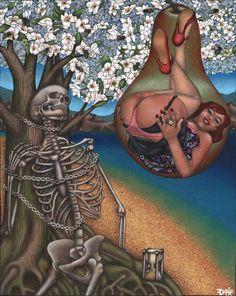 """""""Tantalos and the Allegory of His Tree"""" fine art print from The Art of Don Farrell Arte Black, Garage Art, Art For Art Sake, Illustrations, Art Festival, Erotic Art, Artist Art, Fine Art Paper, Female Art"""