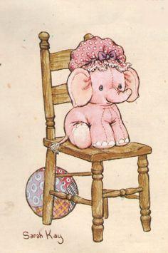 Sarah Kay Sarah Key, Love Painting, Fabric Painting, Mary May, Elephant Love, Holly Hobbie, Australian Artists, Cute Illustration, Animals For Kids