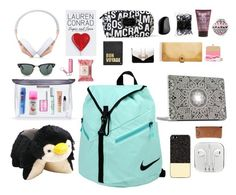 """""""london carry on"""" by simpsonizer0718 ❤ liked on Polyvore featuring NIKE, Zero Gravity, Frends, Pillow Pets, Acne Studios, Ray-Ban, Kate Spade, Colgate, Benefit and KMB"""