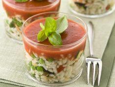 Insalata di riso con salsa di pomodoro