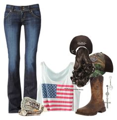 Cole Swindell with my boy❤️ by dirtroadprincess on Polyvore featuring Hudson Jeans, Durango, Topshop and Nocona