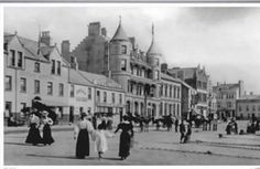 The seafront hotel back in 1897 The name Bangor is derived from the Irish word Beannchar.
