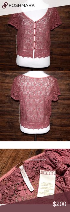 FREE PEOPLE Classic Top Patterned Bohemian Blouse Condition: New without tags. MSRP: $88.00 + tax. Size: Medium.  • Floral lace Embroidered peasant blouse with button-down style front. • Scalloped crochet eyelet detailing. • V-neckline with split lower front. • Unlined, cropped silhouette. • Short cap sleeves. • Rose buttons. • 71% Cotton 29% Nylon. • Measurements provided in comment(s) section below.  {Southern Girl Fashion - Closet Policy}  ✔️ Same-Business-Day Shipping (10am CT). ✔️ Price…