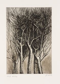 Henry Moore, Trees II Upright Branches, etching on paper. Natural Form Artists, Natural Forms, Abstract Sculpture, Sculpture Art, Sculpture Ideas, Metal Sculptures, Bronze Sculpture, Henry Moore Drawings, Henry Moore Artwork