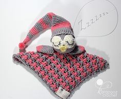 Ravelry: Sleepy the Owl security blanket pattern pattern by Karapooz Krochet