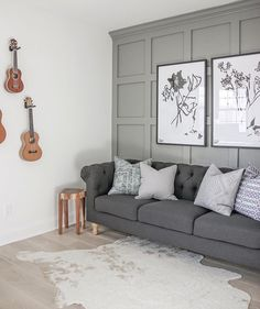 Living Room Colors With Accent Wall Fixer Upper 56 Ideas Accent Walls In Living Room, Accent Wall Bedroom, Paint Colors For Living Room, Living Room Decor, Bedroom Decor, Bedroom Ideas, Fixer Upper Living Room, Living Room Panelling, Wall Panelling