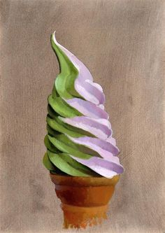 """Tasty Good #4 Cherry Pistachio Swirl"" original fine art by Brian Burt"