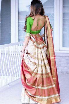 Should have| Best white wedding saree or indian wedding fashionSee more details on #weddingindia Wedding Sari, Lehenga, Sarees, Saree Dress, Saree Styles, Indian Designer Wear, Indian Dresses, Blouse Designs, Perfect Wedding