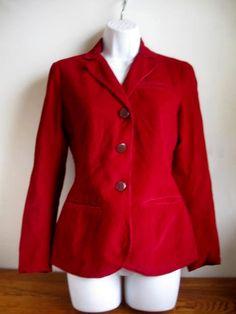 Vintage Burgandy Corduroy Jacket