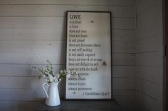 1 Corinthians 13 Sign - Joanna Gaines's Blog | HGTV Fixer Upper | Magnolia Homes