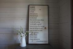 Product Spotlight: 1 Corinthians 13 Sign