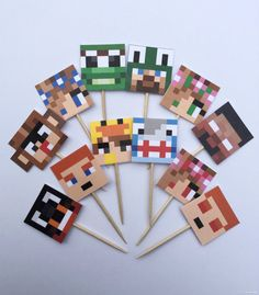 These Minecraft School Cupcake Toppers are sure to please any Little Lizard Gaming or Minecraft School fans! 12 ct. Minecraft School Cupcake Toppers 12 ct. Images printed on cardstock. Toppers are approximately 3.25 inches tall.