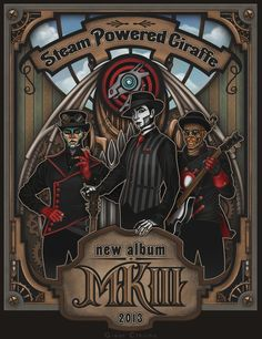 Steam Powered Giraffe MKIII promo by Cthulhu-Great on deviantArt.