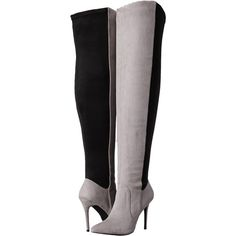 Charles by Charles David Paso (Stone Grey) Women's Dress Zip Boots ($70) ❤ liked on Polyvore featuring shoes, boots, ankle booties, ankle boots, grey, high heel stilettos, grey ankle boots, short boots and gray ankle boots