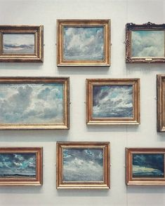 Cloud Gallery Wall: - Constable and Cloud Studies at the Yale Centre for British Art from the wonderful gallery of Memes Arte, Arte Fashion, Fashion Beauty, Illustration Art, Illustrations, Art Hoe, Photo Instagram, Oeuvre D'art, Graphic