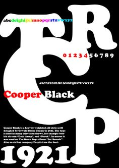 Cooper Black Typography