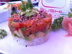 #tartar de #salmon y aguacate, The Sushi bar a domicilio #Malaga www.foodmesenger.com