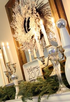 Not much of a silver girl but I could change my metallic to gold and do this for my foyer table!!
