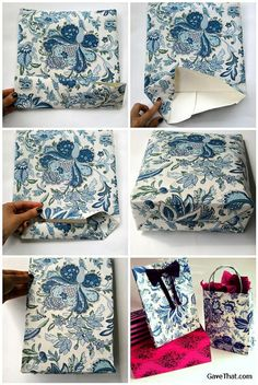 Creating a DIY Paper Gift Bag Step by Step by Olive Oil Lady, via Flickr