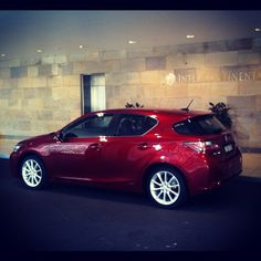 Red goes faster. Photo shoot with Lexus CT200h Luxury.