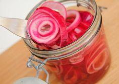 Savanyított lilahagyma recept foto
