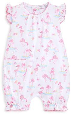 Kissy Kissy Infant Girls' Flamingo Island Print Shortall - Sizes 0-9 Months