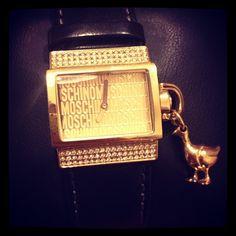 Photo by giuliamuzzi  #moschino #watch #gold #mymoschino