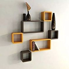Onlineshoppee MDF Cube Shape Floating Wall Shelves Set of 6 * To view further for this item, visit the image link. (This is an affiliate link and I receive a commission for the sales)