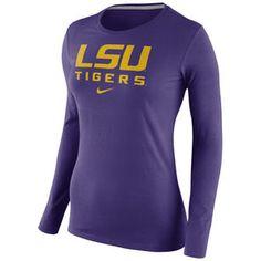 LSU Tigers Nike Womens Logo Long Sleeve T-Shirt – Purple