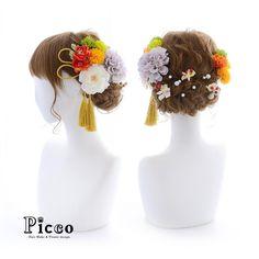 Gallery 367 . Order Made Works Original Hair Accessory for SEIJIN-SHIKI . ⭐️成人式髪飾り⭐️ . 伝統的なオレンジベースの振袖柄の配色に合わせて、凛とした和スタイルに仕上げました 小ぶりローズと明るめカラーのマムをメインに、耳元タッセルとパール&小花を散りばめ大人可愛い印象に . . #Picco #オーダーメイド #髪飾り . . #和 #伝統的 #タッセル #凛とした #成人式ヘア . デザイナー @mkmk1109 . . . . . #成人式髪飾り #成人式髪型 #振袖 #前撮り #マム #卒業式髪飾り #卒業式髪型 #卒業式ヘア #袴 #ローズ #結婚式髪飾り #結婚式髪型 #結婚式ヘア #和装 #着物 #hairdo #beauty #kimono #japanesestyle #kimono