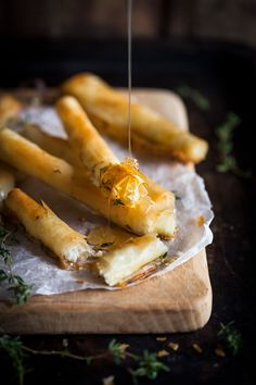 Baked goats cheese cigars with honey & thyme recipe & a round up of my best honey recipes on my website