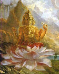 Lord Brahma, ISKCON style