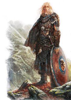 Shadows of Esters: Kavan Mac Dougal by Gawain (Image: Studio 2 / Agate Editions) - Warrior, Fighter, Knight, berserker, barbarian - Fantastical Creatures Fantasy Warrior, Fantasy Rpg, Medieval Fantasy, Fantasy Artwork, Dark Fantasy, Vikings, Character Inspiration, Character Art, Caricature