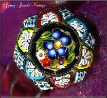 Small Vintage Mosaic Pin from Italy