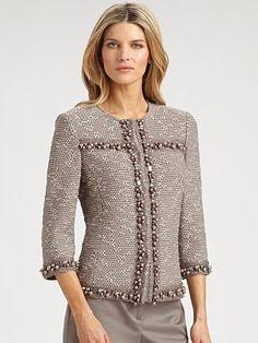 St. John Beaded Tweed Jacket