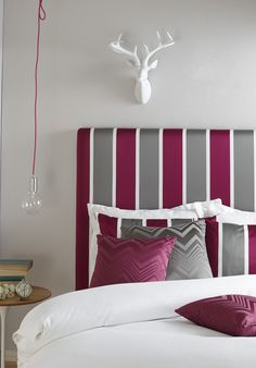 Fabric by Warwick.  Bedhead and cushions manufactured by BQ Design.