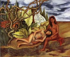 Two Nudes in the Forest The Earth Itself - by Frida Kahlo